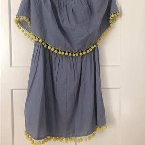 NWT mudpie Pom Pom Over The Shoulder Dress